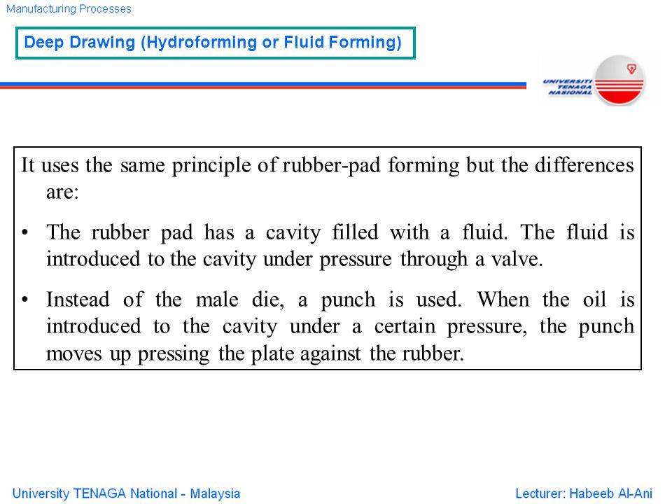 Deep Drawing (Hydroforming or Fluid Forming)