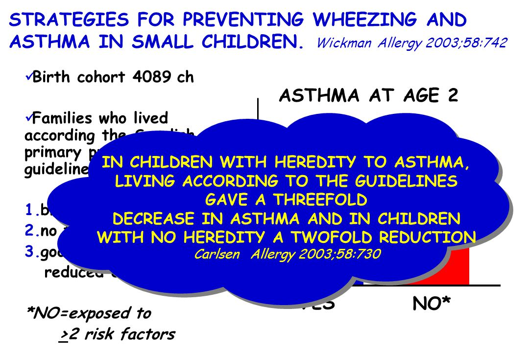 STRATEGIES FOR PREVENTING WHEEZING AND ASTHMA IN SMALL CHILDREN