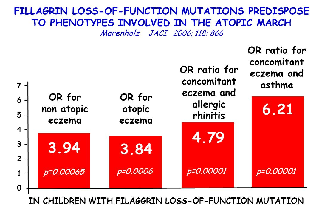 FILLAGRIN LOSS-OF-FUNCTION MUTATIONS PREDISPOSE TO PHENOTYPES INVOLVED IN THE ATOPIC MARCH
