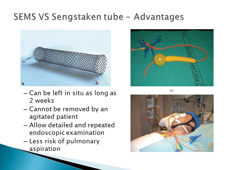 SEMS VS Sengstaken tube - Advantages