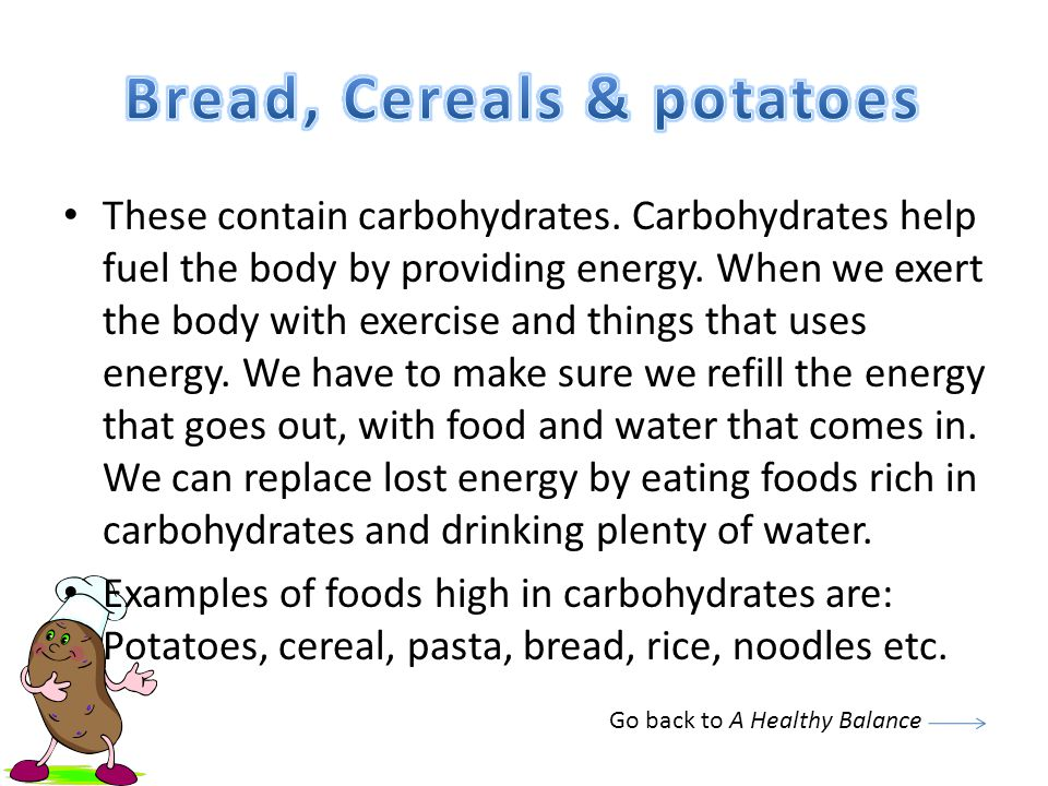 Bread, Cereals & potatoes