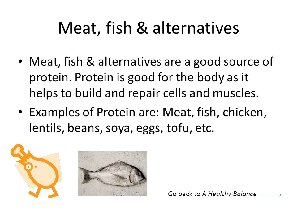 Meat, fish & alternatives