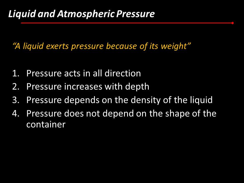 Liquid and Atmospheric Pressure
