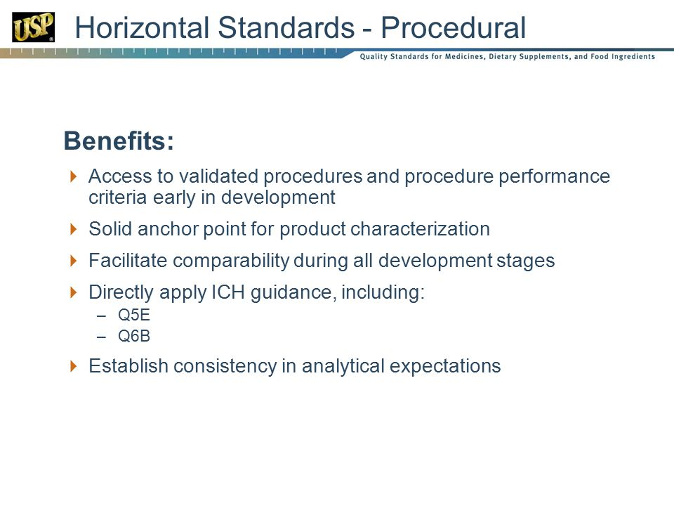 Horizontal Standards - Procedural