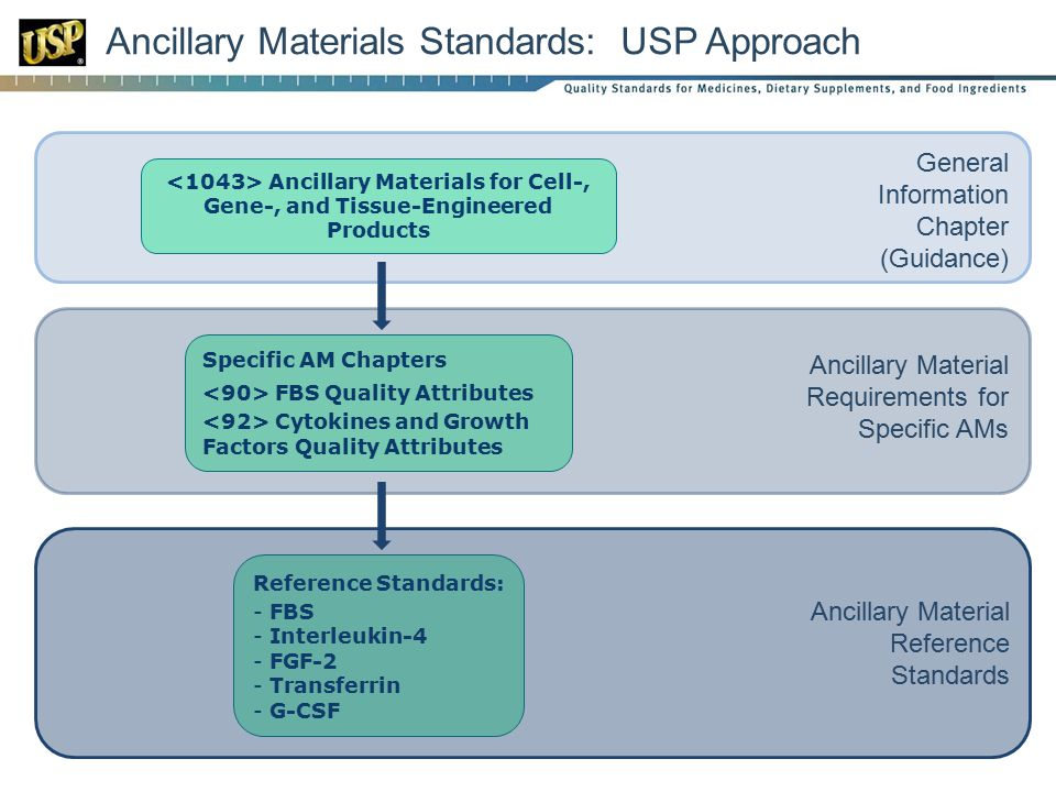 Ancillary Materials Standards: USP Approach