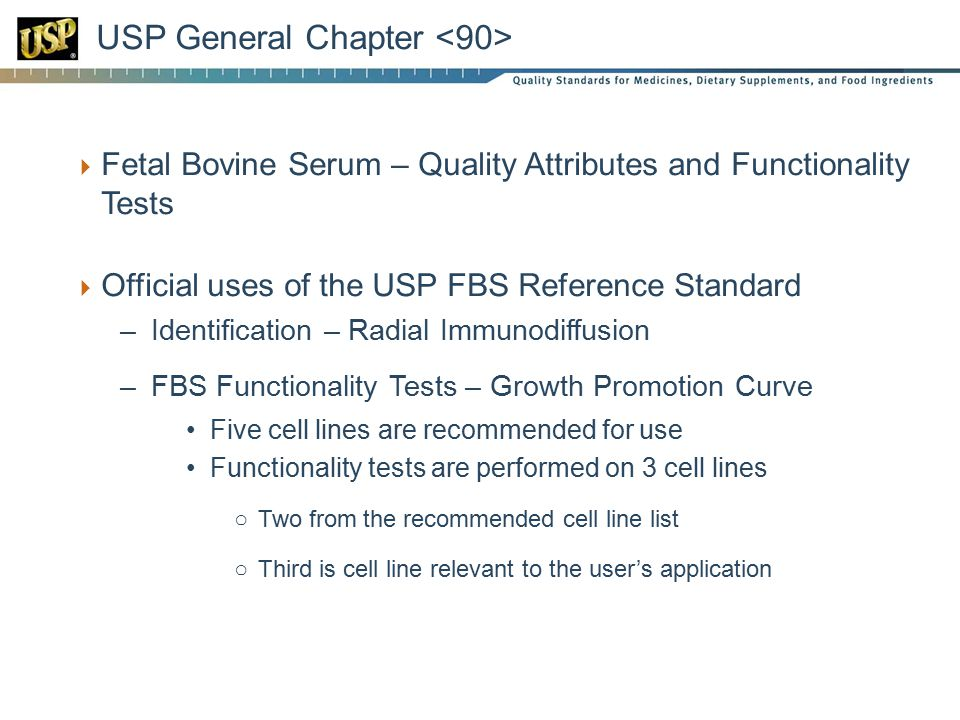 USP General Chapter <90>
