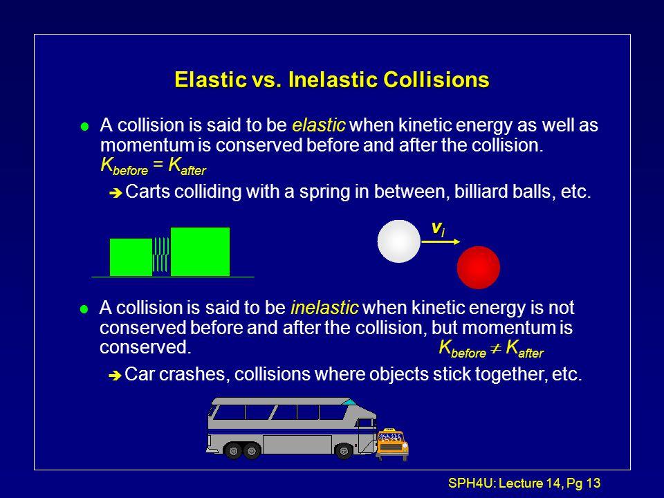 Elastic vs. Inelastic Collisions
