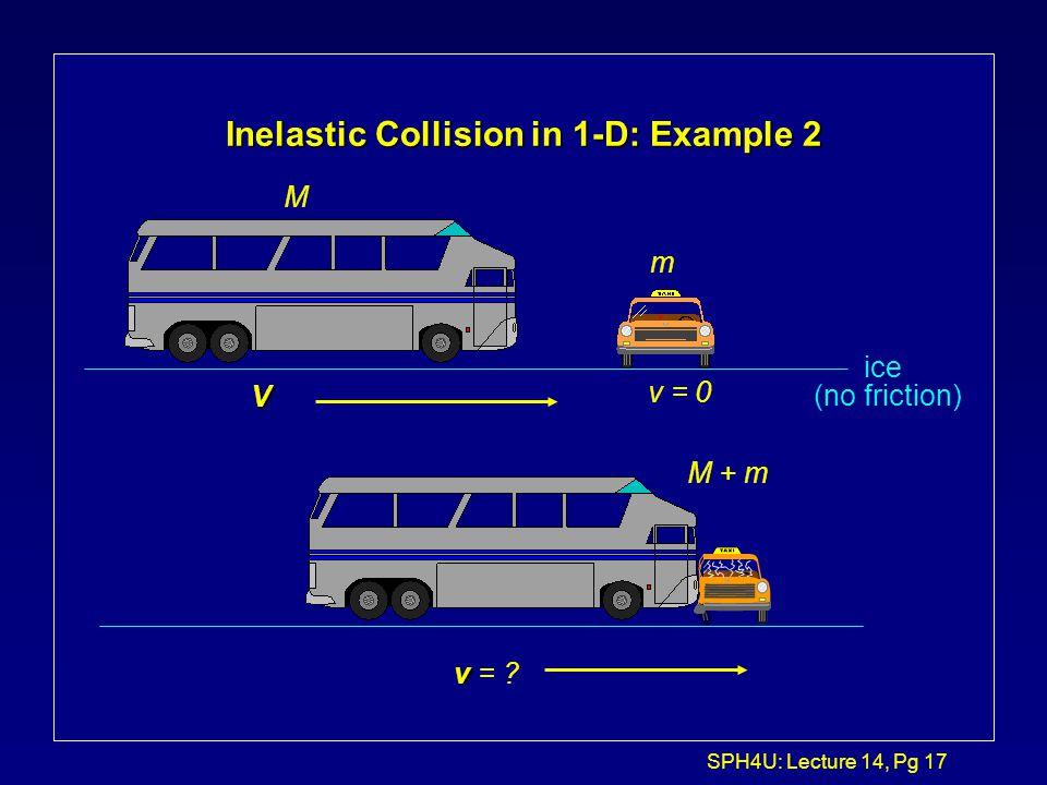 Inelastic Collision in 1-D: Example 2