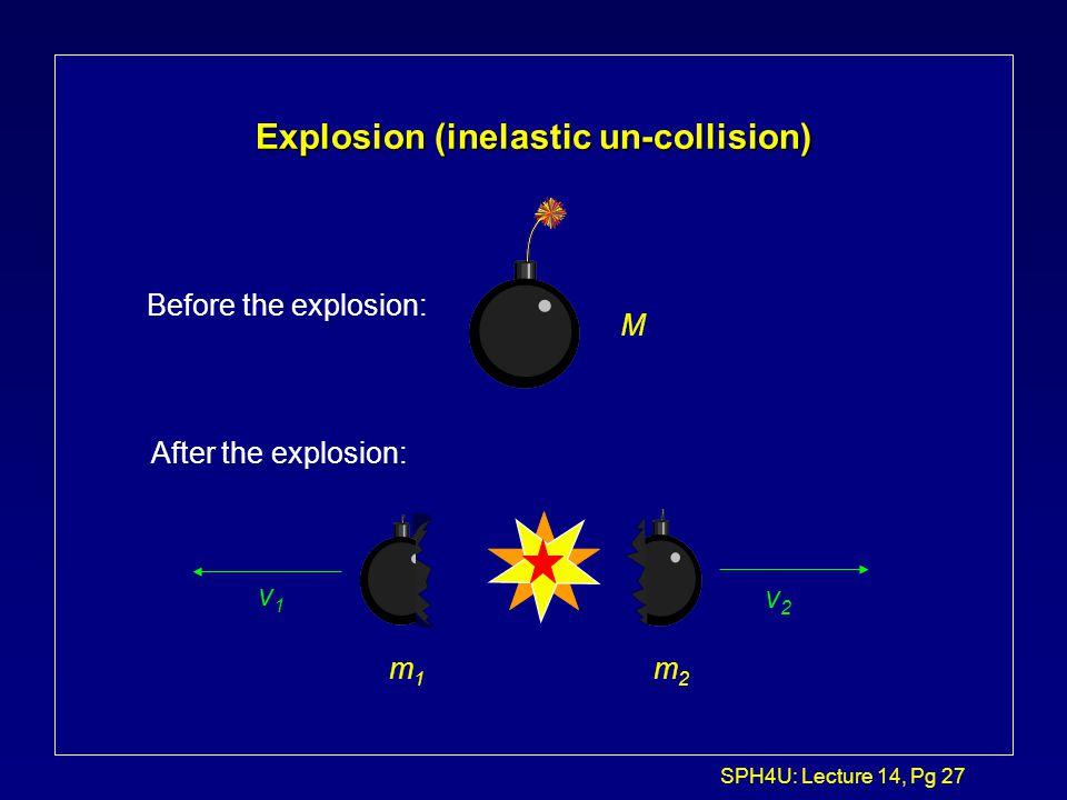 Explosion (inelastic un-collision)