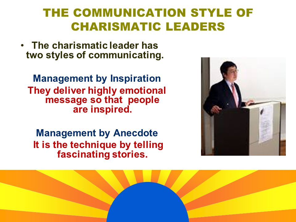 THE COMMUNICATION STYLE OF CHARISMATIC LEADERS