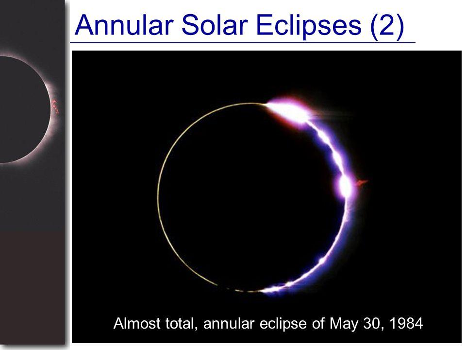 Annular Solar Eclipses (2)