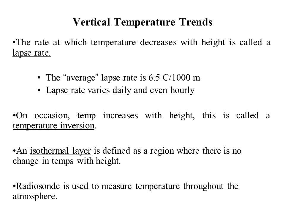 Vertical Temperature Trends
