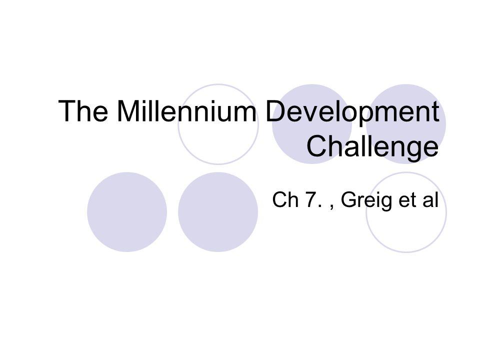 The Millennium Development Challenge