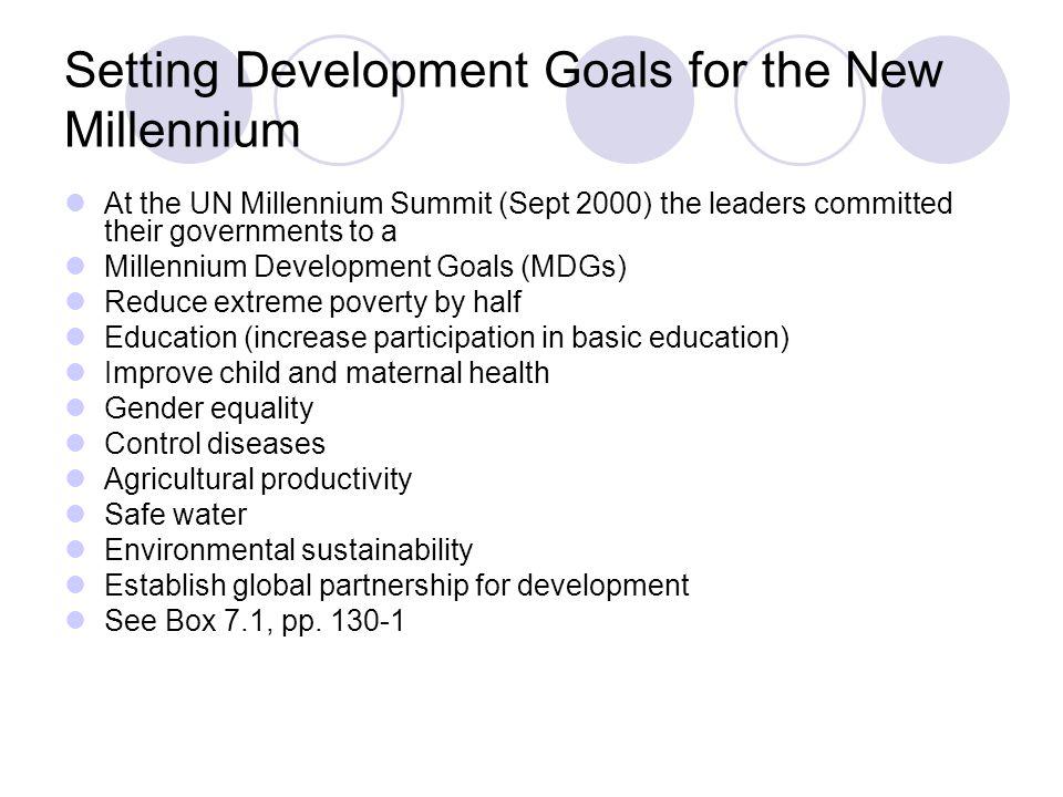 Setting Development Goals for the New Millennium
