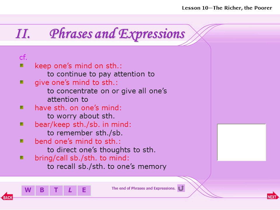 The end of Phrases and Expressions.