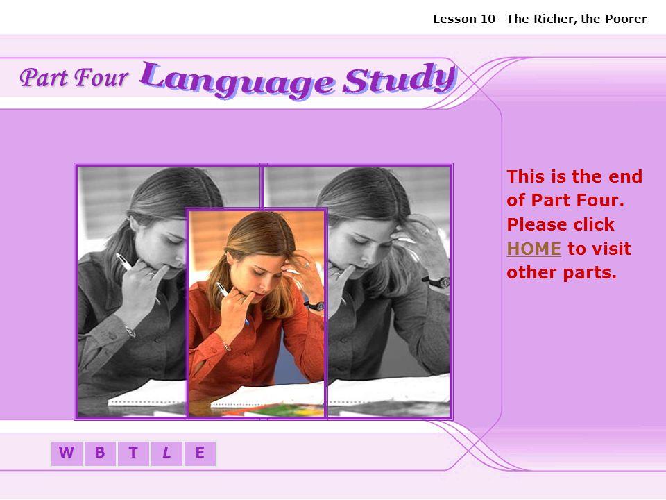 Part Four Language Study