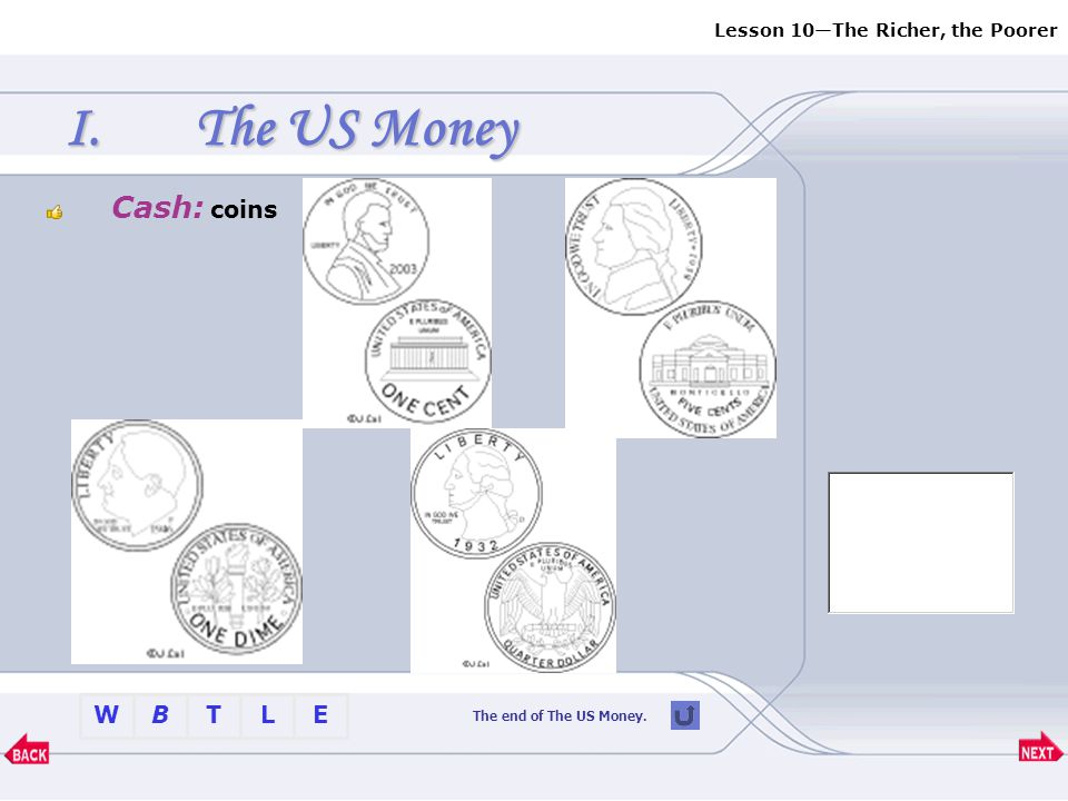 The US Money Cash: coins The end of The US Money.