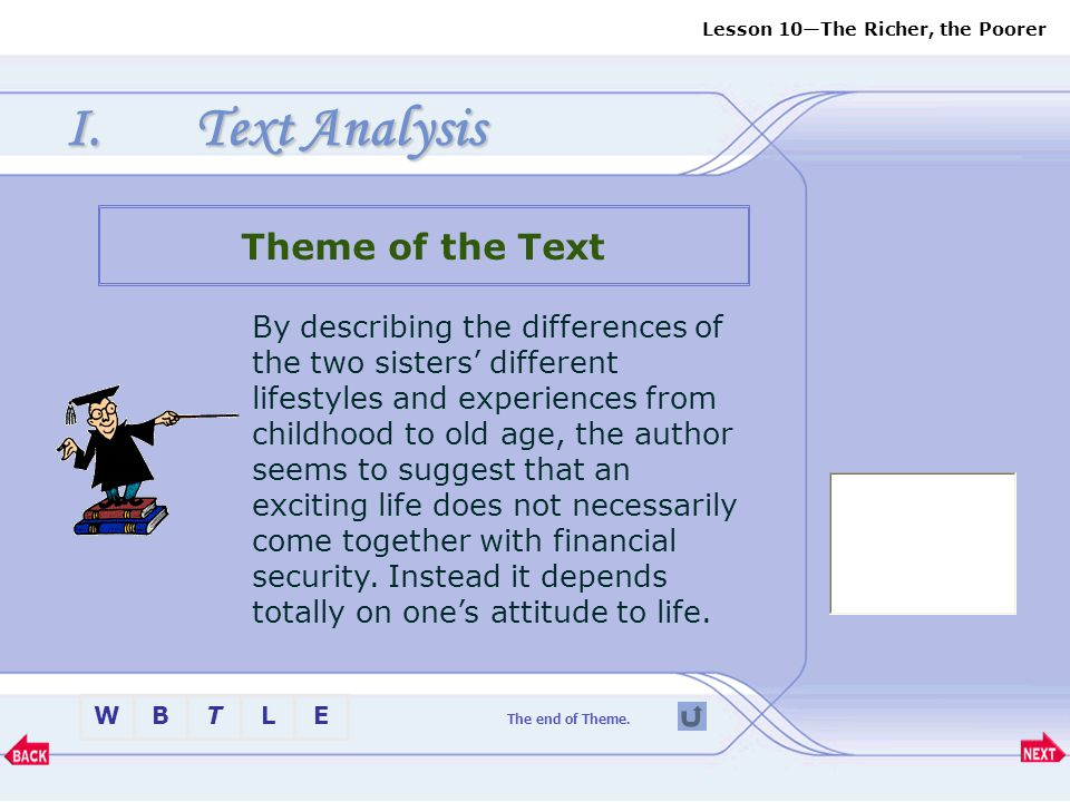 Text Analysis Theme of the Text