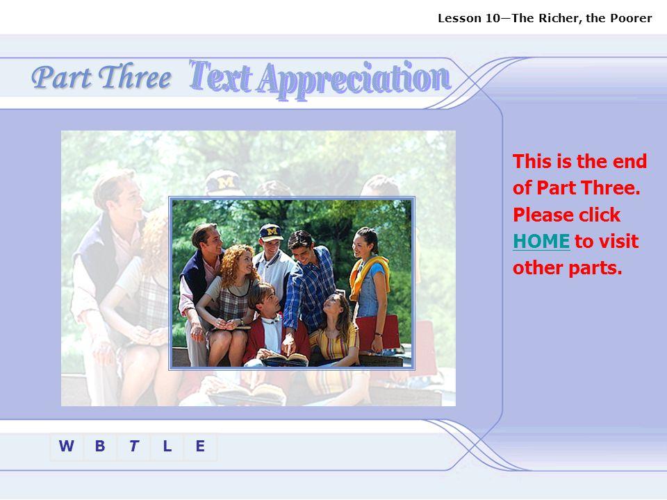 Part Three Text Appreciation