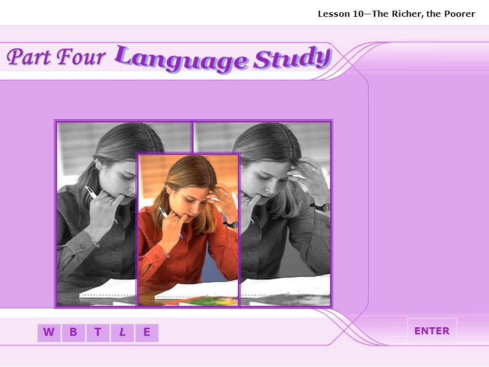Part Four Language Study ENTER
