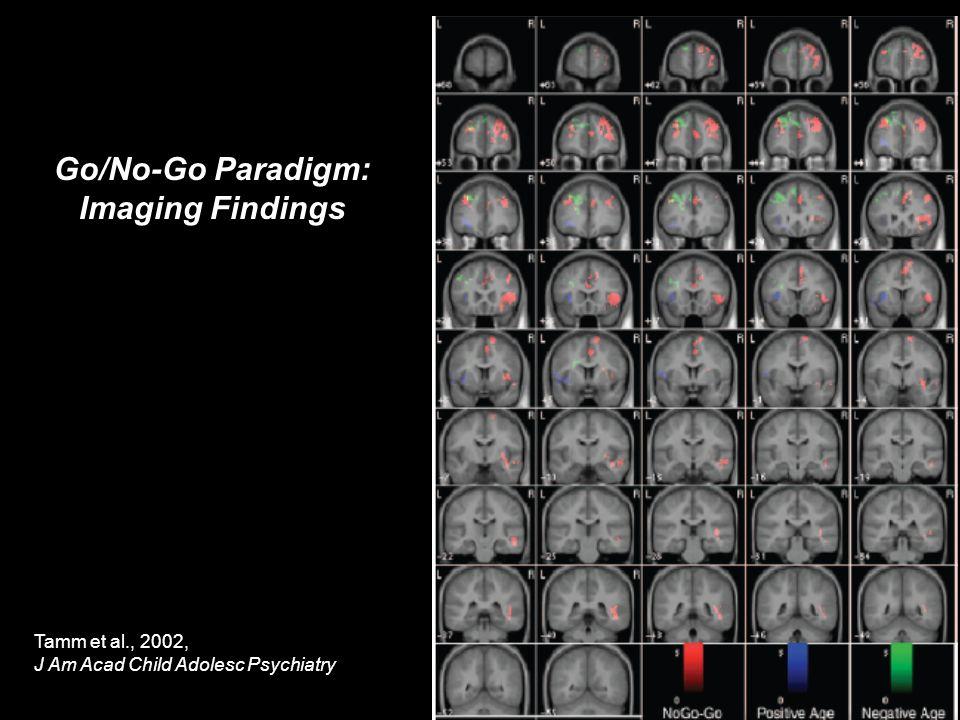 Go/No-Go Paradigm: Imaging Findings