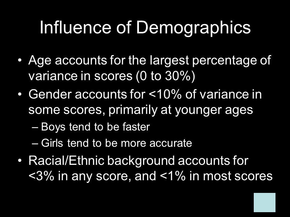 Influence of Demographics