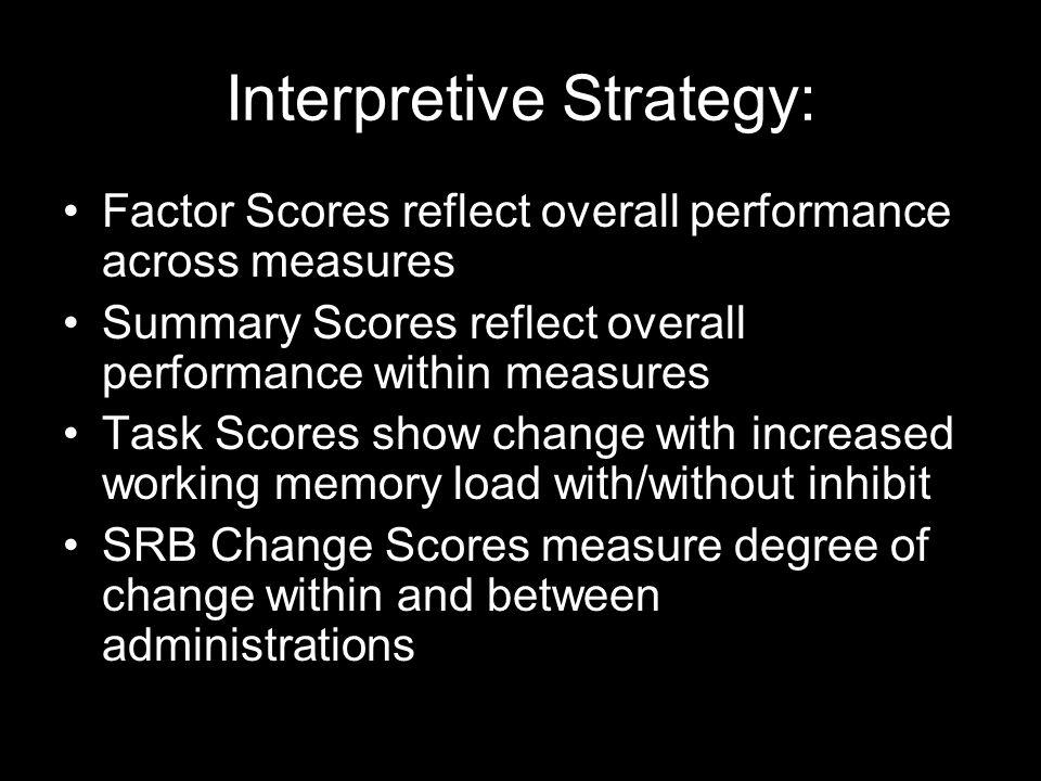 Interpretive Strategy: