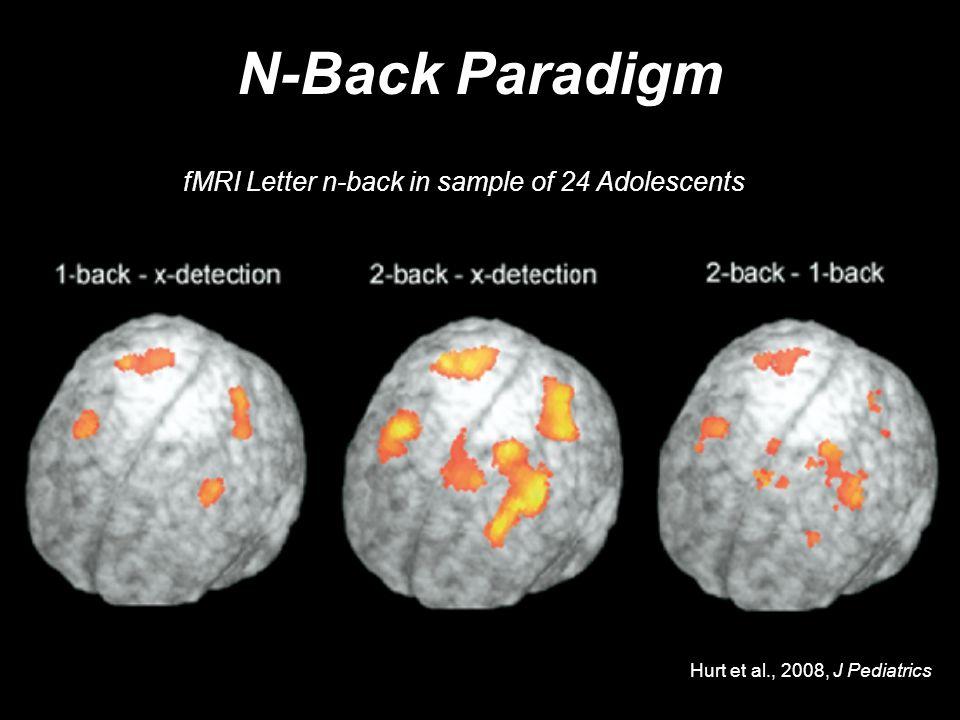 N-Back Paradigm fMRI Letter n-back in sample of 24 Adolescents