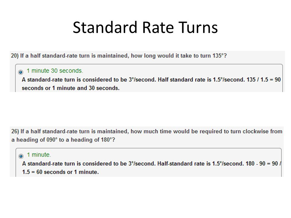 Standard Rate Turns