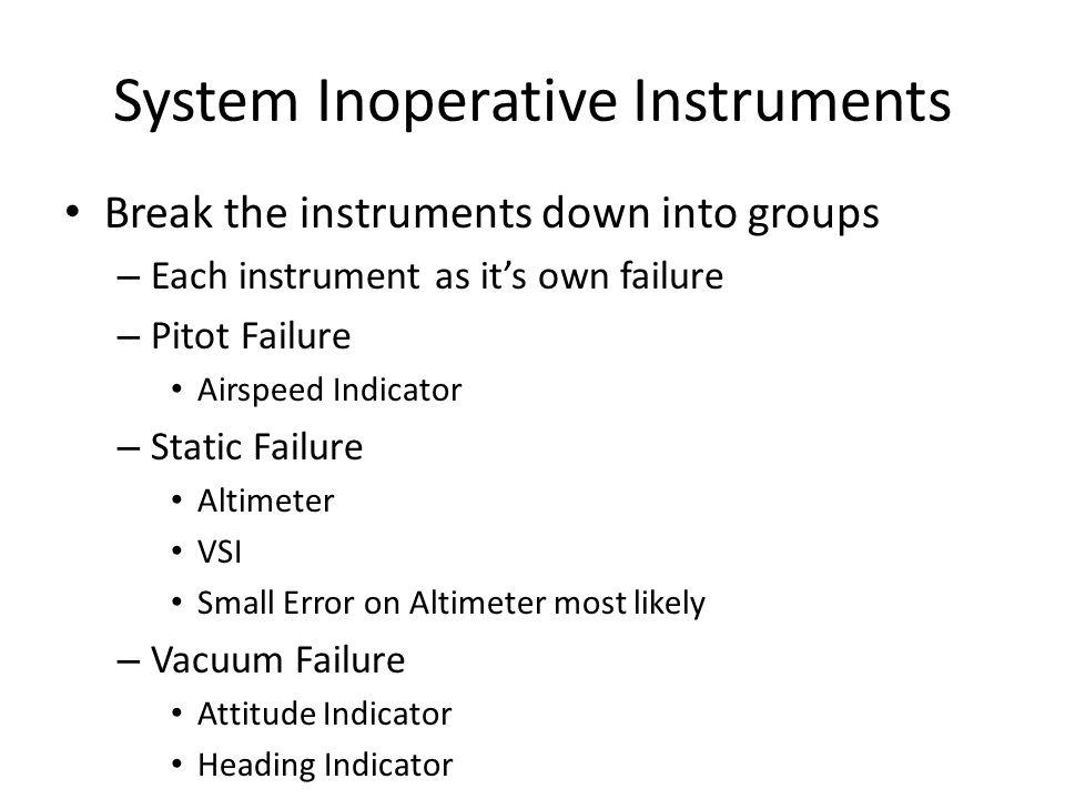 System Inoperative Instruments