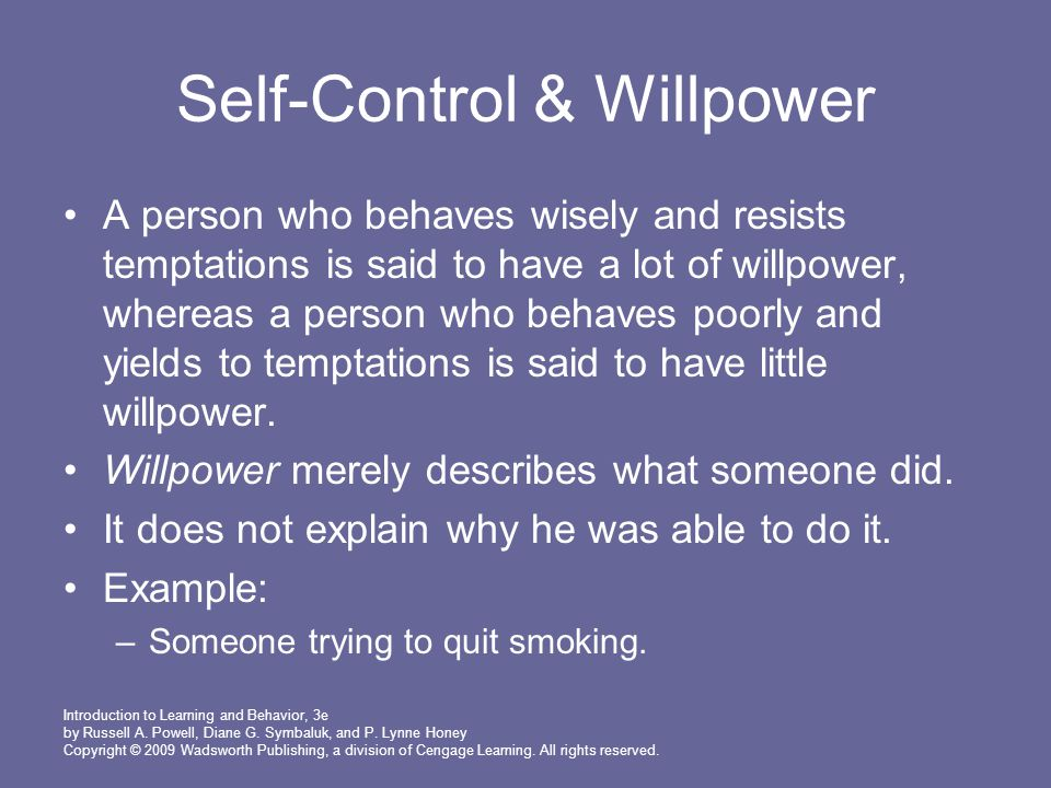 Self-Control & Willpower