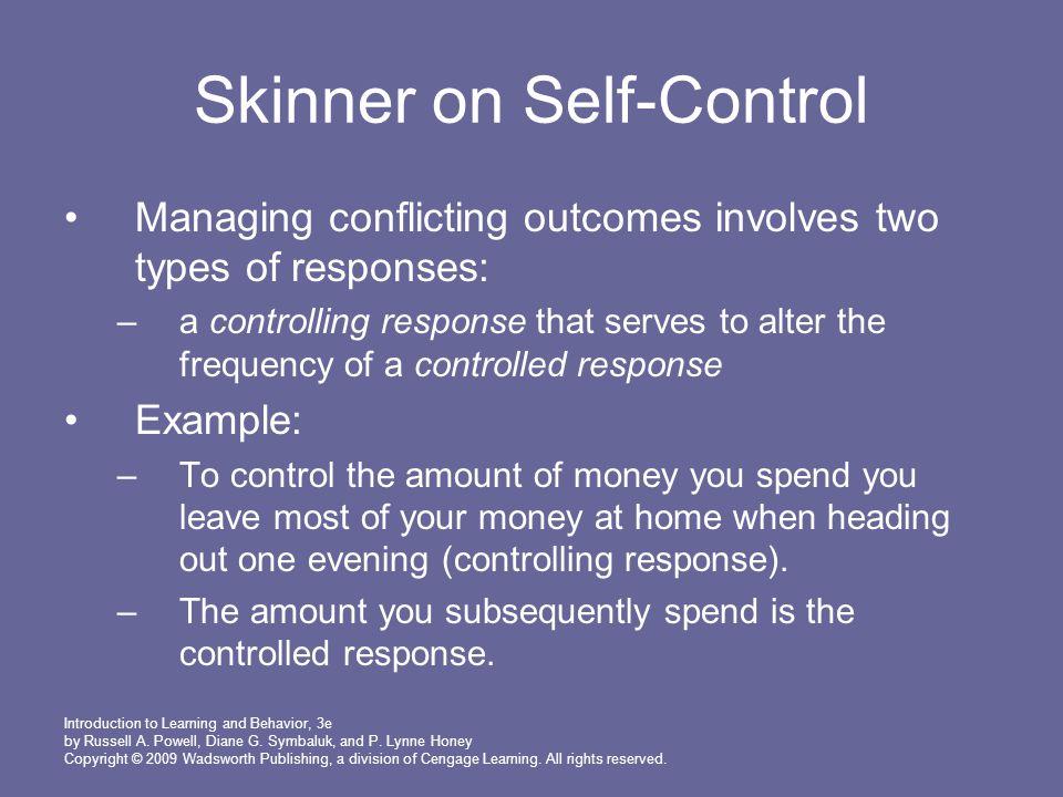 Skinner on Self-Control