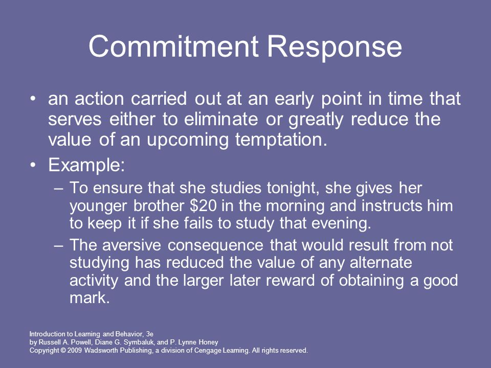 Commitment Response