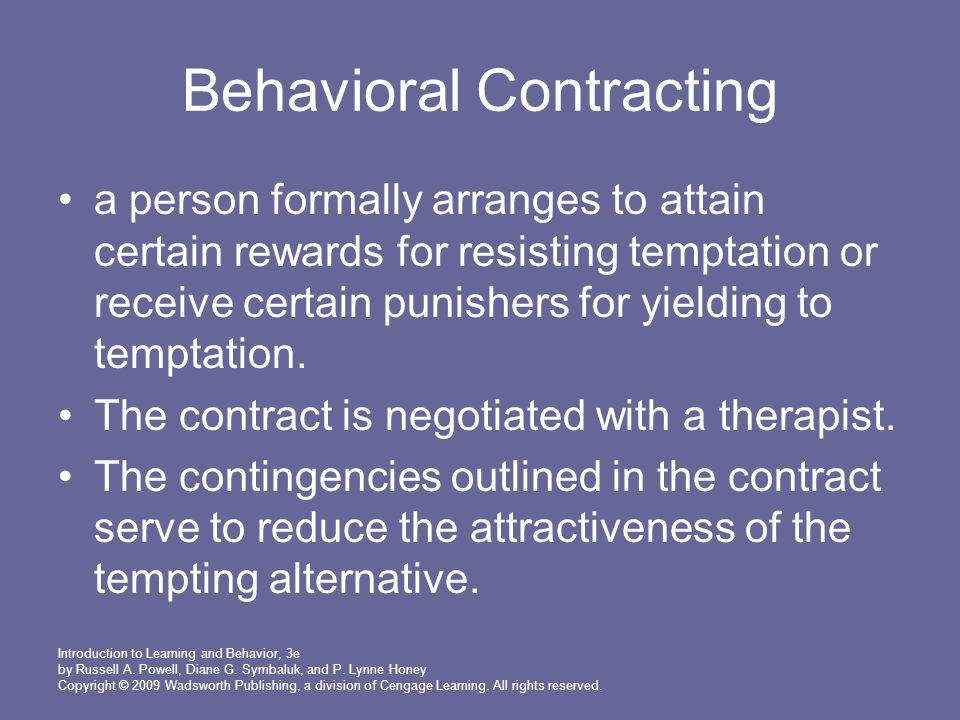 Behavioral Contracting