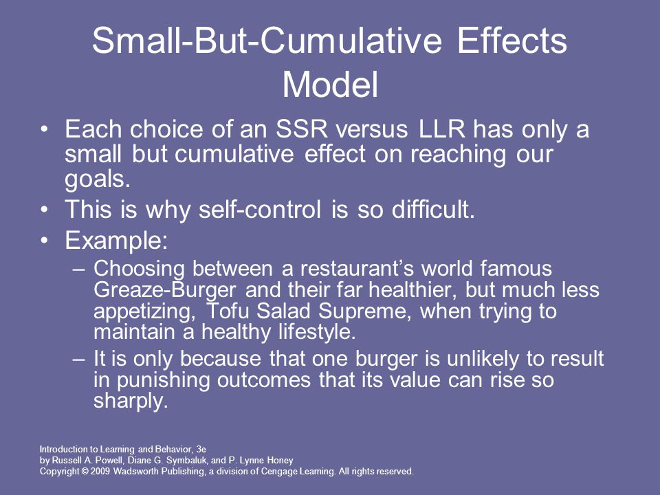 Small-But-Cumulative Effects Model