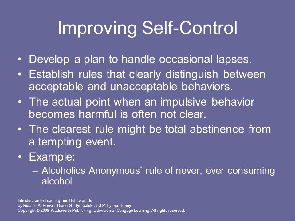 Improving Self-Control