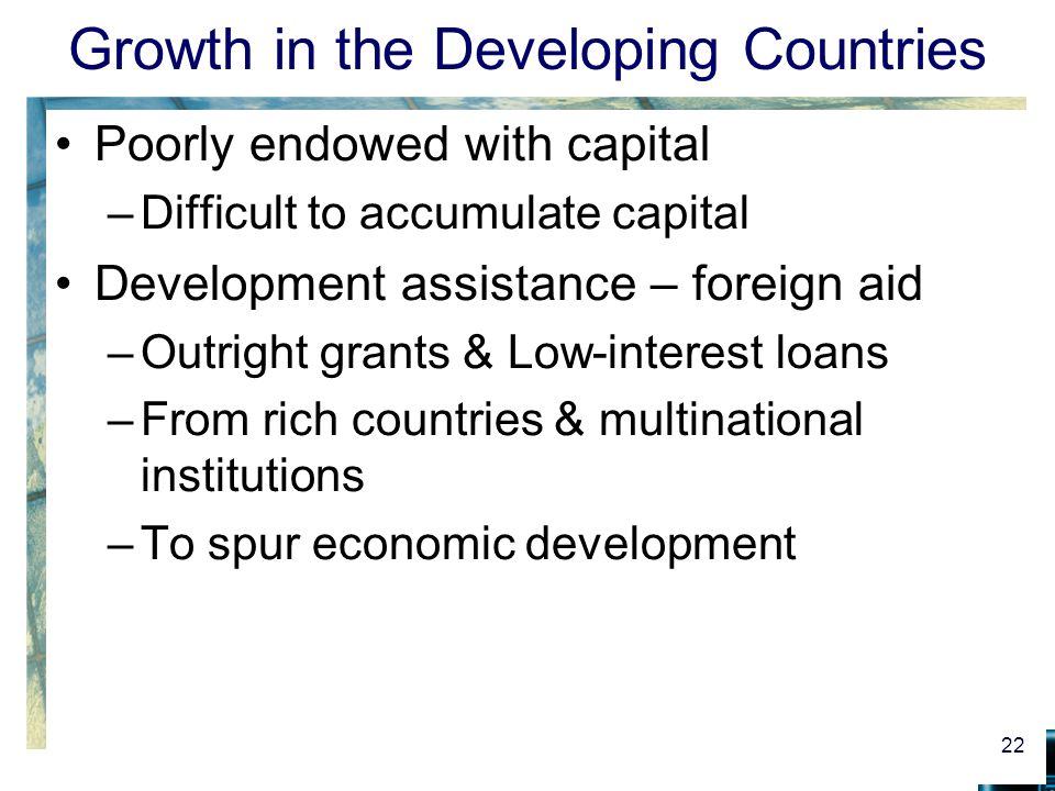 Growth in the Developing Countries