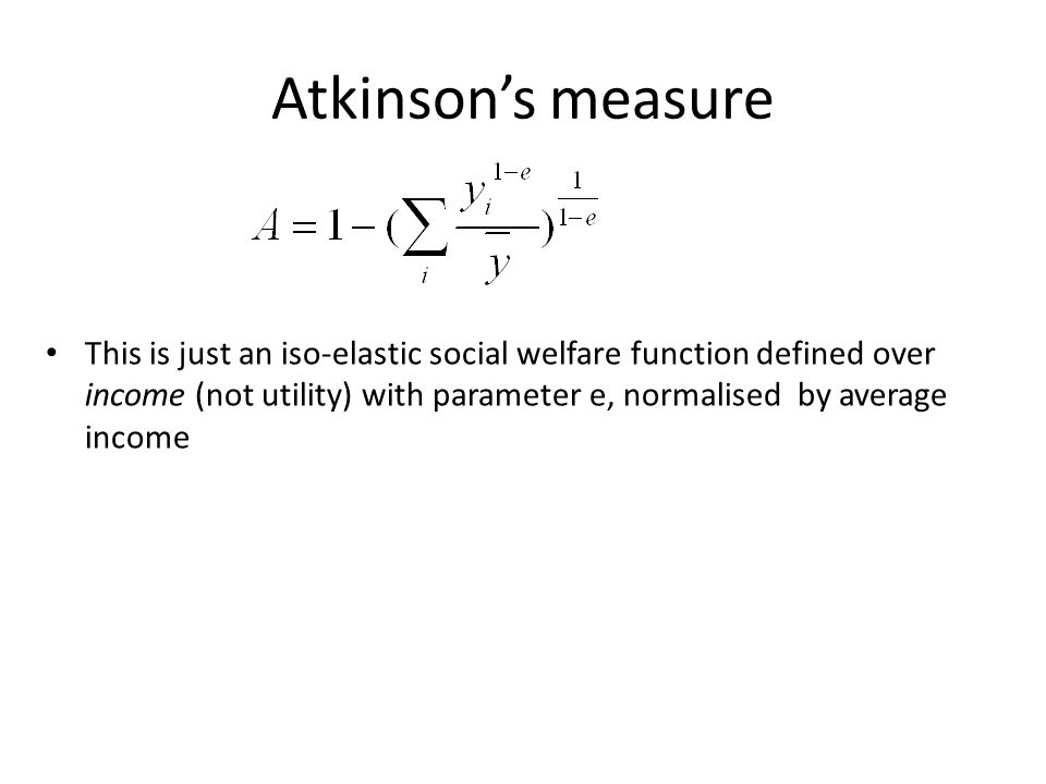 Atkinson's measure