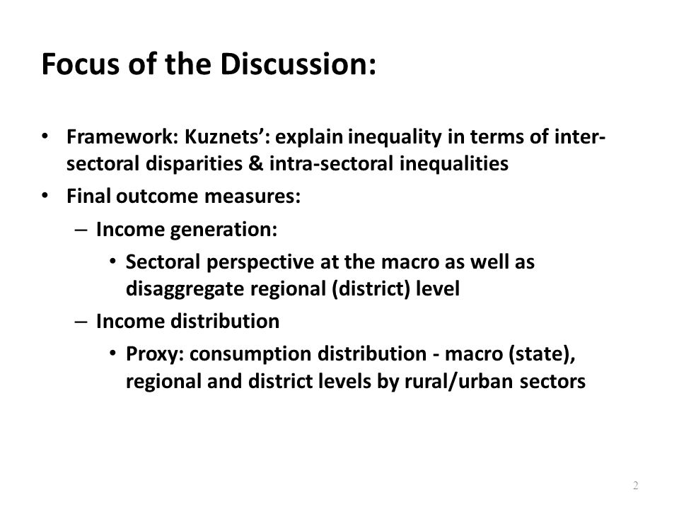 Focus of the Discussion: