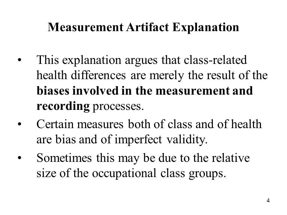 Measurement Artifact Explanation