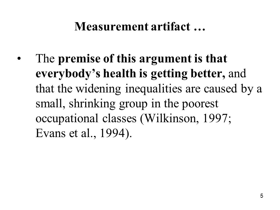 Measurement artifact …