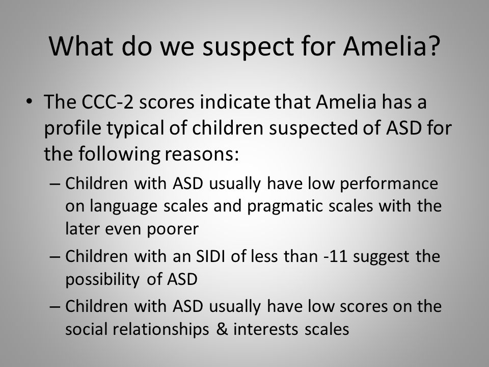 What do we suspect for Amelia