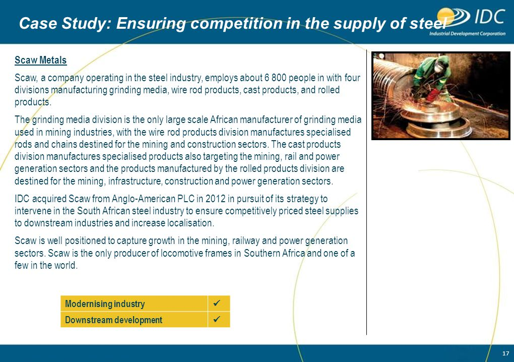 Case Study: Ensuring competition in the supply of steel