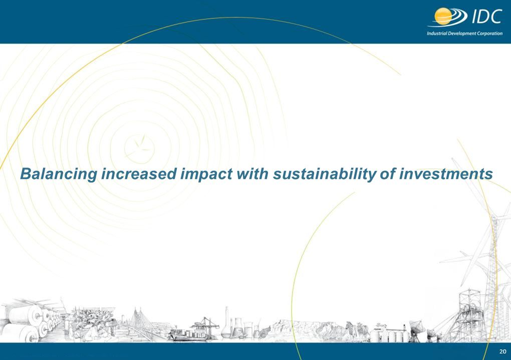 Balancing increased impact with sustainability of investments