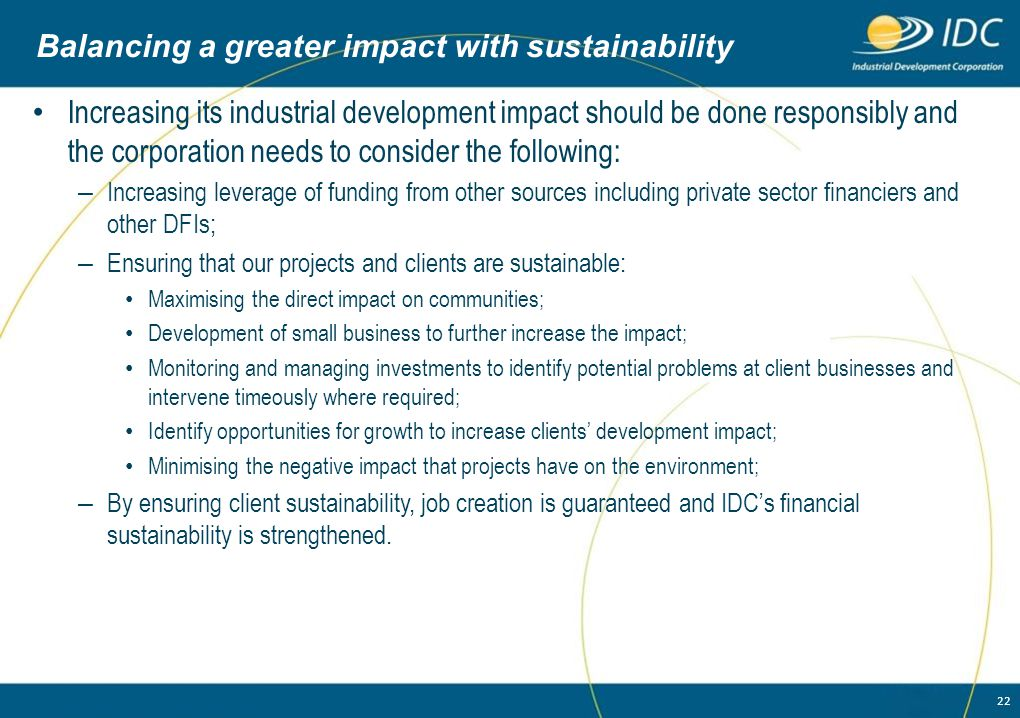 Balancing a greater impact with sustainability