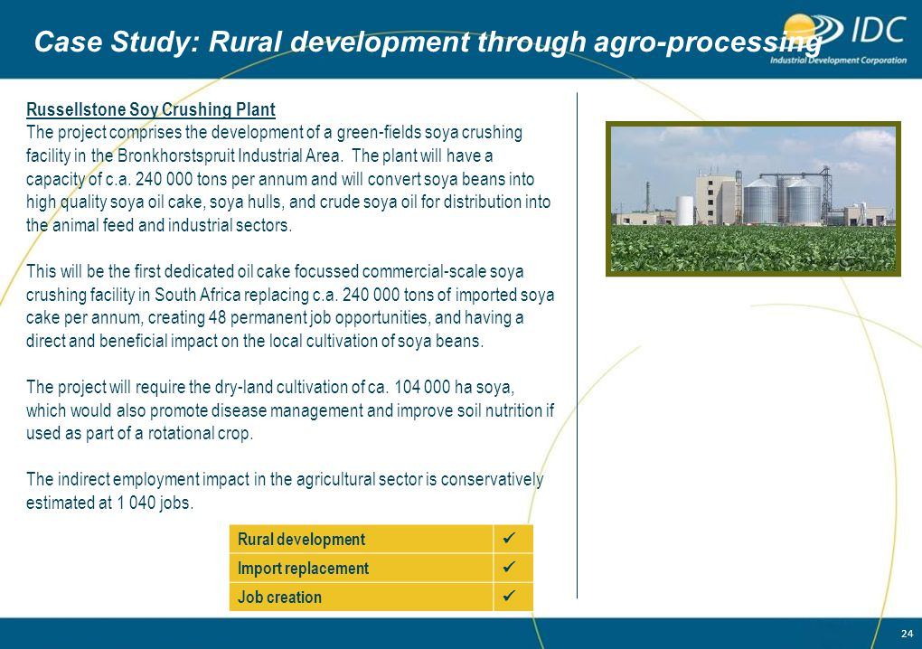 Case Study: Rural development through agro-processing