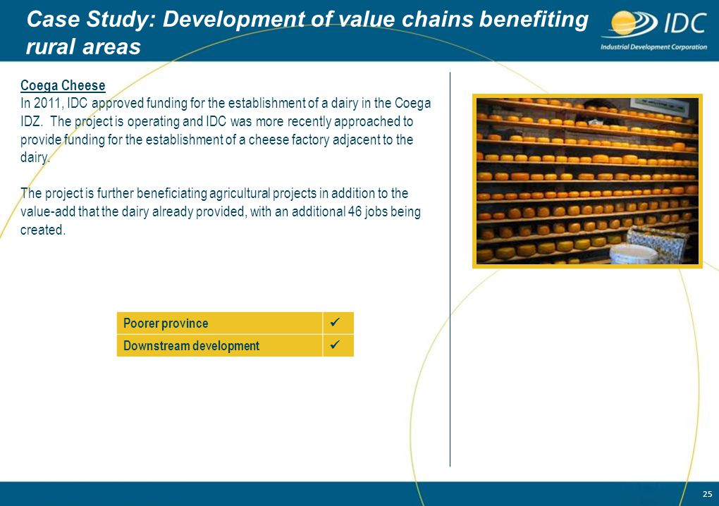 Case Study: Development of value chains benefiting rural areas