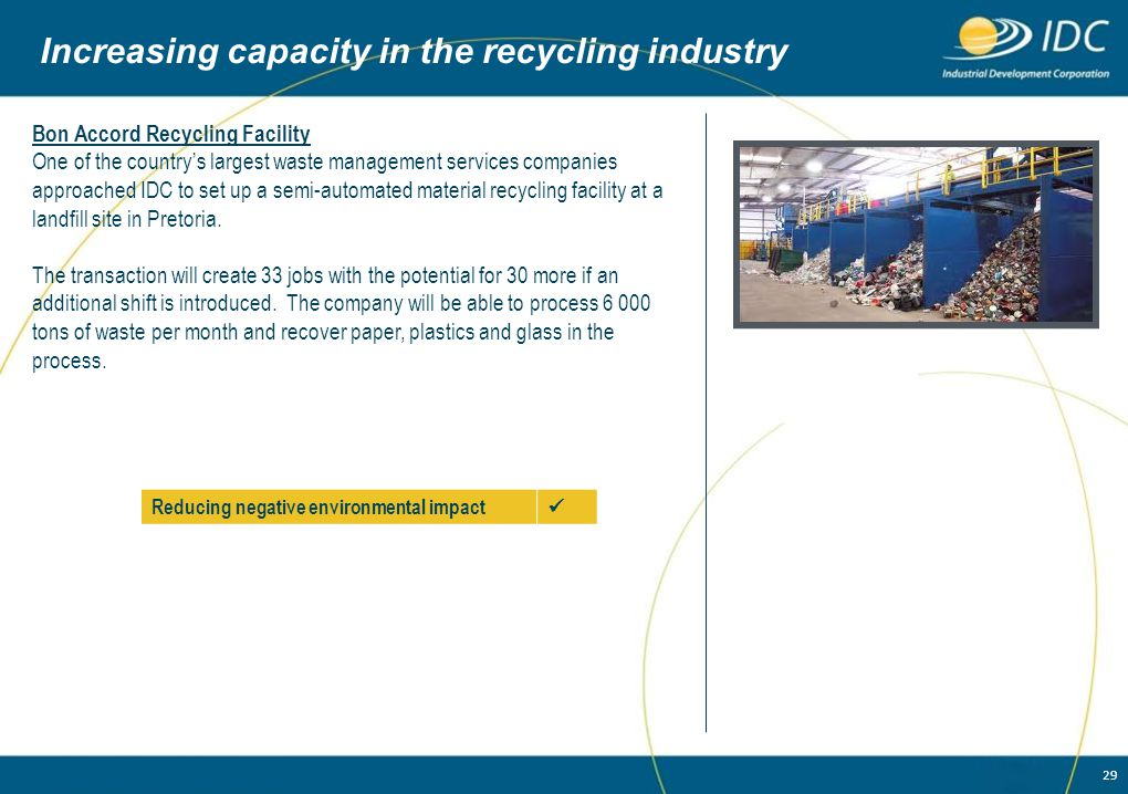 Increasing capacity in the recycling industry