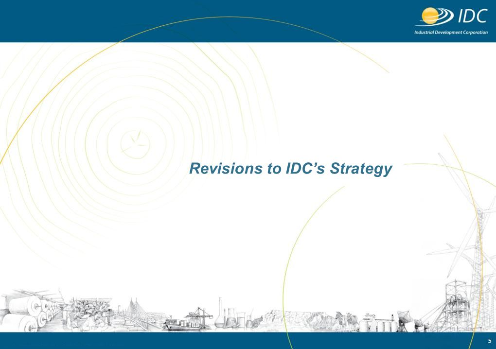 Revisions to IDC's Strategy