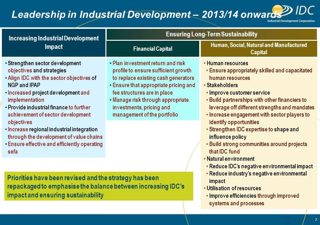 Leadership in Industrial Development – 2013/14 onwards